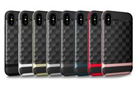Wholesale Iphone 5g Case Design - For Iphone 5SE 5G 5S 6 6S 6 Plus Case , Slim Dual Layer Protective Brushed Textured Geometric Cover Corner Cushion TPU PC Design Case .