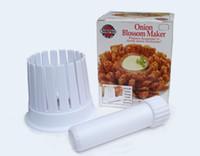 кухонный резак для лука оптовых-Лук Blossom лук измельчитель Maker устройство подготовить красивый вкусный кухня многофункциональный пластиковый лук резак высокое качество 6 5xz R
