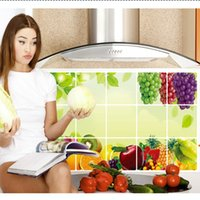 45 * 75cm Mix cores flores plantas frutas adesivos de parede DIY Art Decal impermeável removível Wallpaper Mural Sticker for Kitchen