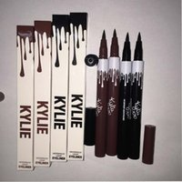 Wholesale Double Side Black Color - 2017 Kylie Single Head Waterproof Double Sided Liquid Eyebrow Pen Eyeliner Eye Liner Pencil Makeup Cosmetic Tools Black+Brown