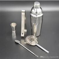 ferramentas de misturador venda por atacado-5 Pcs Prático de Aço Inoxidável Coqueteleira Shaker Mixer Bebida Barman Kit Bares Conjunto de Ferramentas Conjuntos de Barra Ecológica