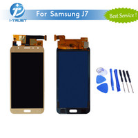 Wholesale Tft Test - TFT 100% Tested Working Repair Replacement Adjustable LCD Display For Samsung Galaxy J7 J700 J700F + Free Tools +Free Shipping