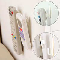 Wholesale Key Holder Remote - Wholesale- 1Package(4Pcs) Sticky Hook Set TV Air Conditioner Remote Control Key Practical Wall Storage Plastic Hooks Holder Strong Hanger