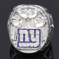 Wholesale Giants Jewelry - Hot sale superbowl ring mens diamond rings vintage 2011 new york giant championship rings fine jewelry size 9-14 drop shipping