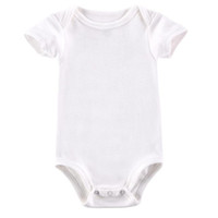 Wholesale New Arrival Baby Rompers - AbaoDo new arrival baby rompers 100% cotton infants short sleeve bodysuit milk white newborn clothing top quality onesies