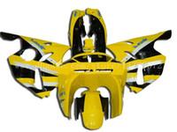 kit de carenagem zx6r 1996 venda por atacado-Carenagens ZX 6R para Kawasaki NINJA ZX 6R 94 95 96 97 ZX-6R 94-97 ZX6R 1994-1997 ZX6R 1994 1995 1996 1997 kit de carenagem # a72h3 Amarelo