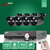Wholesale Night Dvr System Hdd - ANRAN Surveillance 4CH 1080N 720P AHD DVR 1800TVL Array IR Day Night Outdoor Waterproof Bullet CCTV Home Security Camera System 500GB HDD