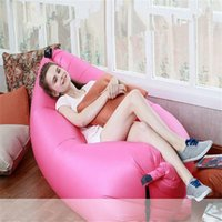 Wholesale Double Bag Chair - Inflatable Lounger Chair Air Sleep Sofa Bed For Outdoor or Indoor Foldable Lazy Bag Couch Portable Waterproof Camping