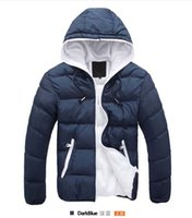 Wholesale Long Red Overcoat Down - new fashion Winter men jackets warm coats Mens Coat Brand Sport Jackets Winter Down Parkas Men's Overcoat Size M-3XL free shipping