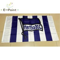 Wholesale German Flags - German Hertha BSC FC 3*5ft (90cm*150cm) Polyester flag Banner decoration flying home & garden flag Festive gifts