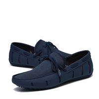 ingrosso scarpe ventilate-Ventilate Boat Shoes 2018 Slip On Shoes Mocassini estivi confortevoli da uomo 20D50
