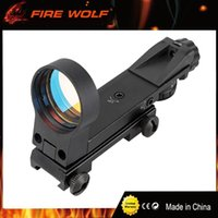 Wholesale Multi Reticle Scope - FIRE WOLF Multi Reticle Red Dot Sight Optical Scope 1X30 Reflex Sight with 4 Various Reticle Gun Scope For Hunting