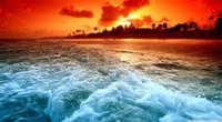 pintura al óleo libre del océano al por mayor-Enmarcado, Lotes al por mayor, paisaje marino del arte puesta del sol, pintado a mano de la pared Decoración pintura al óleo calidad de la lona Multi tamaños envío gratis R236 #