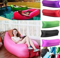 Wholesale Furniture Interiors - DHL Modern Living Room Sofa Foldable Gas Lazy Sofas Beds Sunshine Beach Fast Inflatable Chairs Park Sleeping Bags Equipment Home Furniture