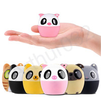 Wholesale Mp3 Cute Cartoon - Super Cool Cartoon Bluetooth Speaker with Self Timer Portable Cute LoudSpeaker Bass Animal Subwoofer Outdoor Speakers Music MP3 Player