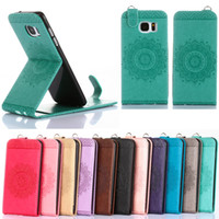 Wholesale Leather S3mini Case - Fashion Magnetic PU Leather Card Holder Stand Vertical Flip Case Cover For Samsung galaxy S3 S4 S5 S6 S7 S3mini S4mini S5mini S6edge S7edge
