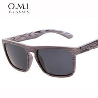 gafas de sol de marca china al por mayor-Gafas de sol de madera de imitación de calidad superior de polarización Vintage hombres monopatín gafas de sol de china diseñador de la marca las gafas de sol de Ferris gafas de sol