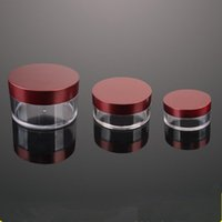 Wholesale Acrylic Boxes Lids Wholesale - 30g 60g Empty Acrylic Cosmetic jars Cream Packaging Plastic Jar and Lid For Facial Mask Face Hand Cream Sample Containers Pot Box F2017255