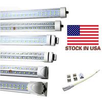Wholesale Bright Feet Led - 8ft led v-shaved 72W Integrated G13 R17D T8 led light SMD2835 384Pcs 7200LM Super Bright 8 foot led tubes AC85-265V UL DLC