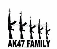 black family films - AK FAMILY Car field military enthusiasts AK firearms E reflective stickers Reflective film carved car stickers
