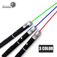 Wholesale Green Laser Pointer 5mw Wholesale - 5mW 532nm Green Red light Laser Pen Beam Laser Pointer Pen For SOS Mounting Night Hunting Xmas gift Opp Package Batteries Not included