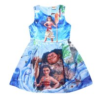 Wholesale 12 Year Old Girls Fashion - Children Fashion Dresses Sweet Girls Cartoon Clothes Fashion Infants Princess Dress Kids Blue Casual Clothing 4-12 Years Old