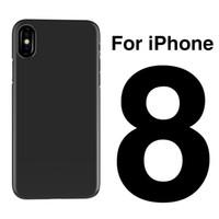 ingrosso nero chiaro hard iphone-Per iPhone 8 iPhone8 6s 7G plus Samsung S7 edge S8 S8 Plus Crystal Nero Trasparente Trasparente Pc Cassa del telefono Materiale Shell Coperchio posteriore