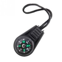 Wholesale Camp Navigator - Wholesale-Zipper Pull Mini Compass Backpack Bag Strap Charm Sport Mini Pocket Compass Navigator for Camping Caving Hiking Hiker with Sling