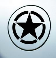 Wholesale Stickers Marks - Pentagram suvs JEEP wrangler Pentagram reflective car stickers American army marks car stickers car decoration accessories