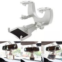 Wholesale- carro New Arrival Car-styling Car Rearview Mirror Mount Holder Stand Cradle para celular GPS jy1
