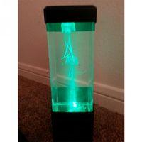 Wholesale Jellyfish Aquarium Lamps - Wholesale- Creatively LED Decorative Lightings Bedside Table Motion Lamp Jellyfish Lamps Aquarium LED Relaxing Desk Night Light