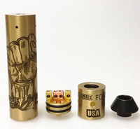 New Styles Brass Rogue USA Mod kit con GMVP RDA Cap Mechanical Mod Clone e Rogue Force Rebuildable Dripping Atomizer DHL Free