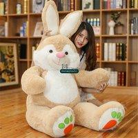 Wholesale Huge Stuffed Monkey Plush - Dorimytrader New Pop 150cm Huge Soft Cartoon Bunny Plush Toy 59inches Lovely Stuffed Anime Rabbit Doll Pillow Baby Present DY61630