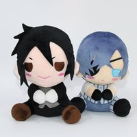 Wholesale anime toys black butler online - Hot Nime Black Butler Kuroshitsuji Ciel Sebastian Michaelis Plush Doll Stuffed Toys quot cm