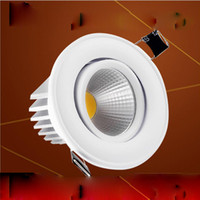Éclairage Plafonnier Led Pas Cher-COB LED Downlight 9w 12w Epistar Dimmable Encastré Down Light Ceiling Espagne Style Bedroom LED Lamp + Driver Garantie 3 ans Livraison gratuite