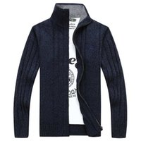 Wholesale buy direct from china online - new Brand Mens Sweaters Men Stand Collar male Cardigan Jacket Casual Knitted Outwear Business Clothes buy direct from china B003