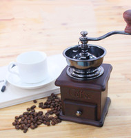 Cheap Wood Mini Coffee Machine Best ECO Friendly Other Coffee Grinder Retro Mill Maker