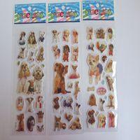 kostenlose spiele für kind großhandel-Mehr Entwurf 3D Karikaturaufkleber 7 * 17cm Partei Dekoratives Buch Aufkleberpapierspiel Kindergeschenk spielt freies Verschiffen