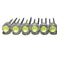 parlak led diyot toptan satış-Toptan-100 adet / grup 6-7LM beyaz 5mm hasır şapka LED lamba boncuk süper parlak LED süper büyük çekirdek Işık yayan diyotlar (led'ler)