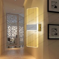Wholesale Contemporary Glass Lamps - LED Acrylic Wall Sconce Lamp Fixture Night Light Corridor Bedroom Exhibition free shipping MYY