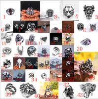 Wholesale Massive Jewelry - Fashion NEW Style Massive Gothic Skull Sculpture Bicycle Gothic Punk Biker Finger Rings JewelryNew Jewelry - Free Shipping + Free Gift