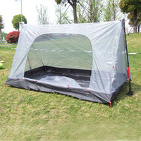 Wholesale Touring Tent - Wholesale- Outdoor 2-Person 3 Season Waterproof Camping Hiking Hunting Tent Outdoor Family Tour Holiday Vocation Travelling Companion Grey