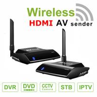 av gönderici vericisi toptan satış-PAT-580 5.8 GHz Kablosuz Video Verici Alıcı HDMI AV Ses Video Gönderen Alıcı 300 M Adaptörü Ile PC TV Box için IR Uzaktan Genişletici DV