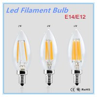 E14 E12 Led Light 110V / 220V 2W 4W 6W Led Lampe à lampe à lampe à lampe à filament Lampada Led Retro Edison Glass Crystal Lustres