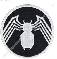 "Wholesale Iron Spiderman Costume - 3"" Marvel Comics The Amazing Spiderman Venom's Logo Iron on Patches TV Movie series Comic Embroidered badge costume cosplay"
