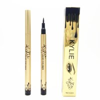 Wholesale Quality Liquid Packaging - New Arrival Kylie Eyeliner Lasting Blooming shinny birthday Edition Golden Single package Liquid Eyeliner best quality by dhl