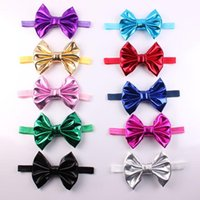 Wholesale blending stamp - New Baby girls headbands Hot Stamping Bows Headwear Children Girls Bowknot Hair Accessories Baby Hair bows Kids Headdress Free Ship KHA309