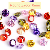 Wholesale Lab Created Loose Gems - 50pcs lot Loose Colorful Zircon Super Flash Pointed Bottom Rhinestones Artificial Gems Jewelry Decoration 6mm