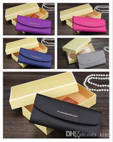 Wholesale Clamshell Purse - Top quality Fashion clamshell large-capacity women hand wallet designer wallets good quality leather high-end brand purse with box