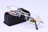 Wholesale Slim Reading Glass Fold - (6pcs lot) Folding reading glasses metal presbyopic glasses fashion slim reading glasses